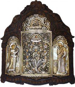 DSC02017 Παναγία Ρίζα Ιεσσαί, Ευαγγελισμός, Φιλοξενία του Αβραάμ