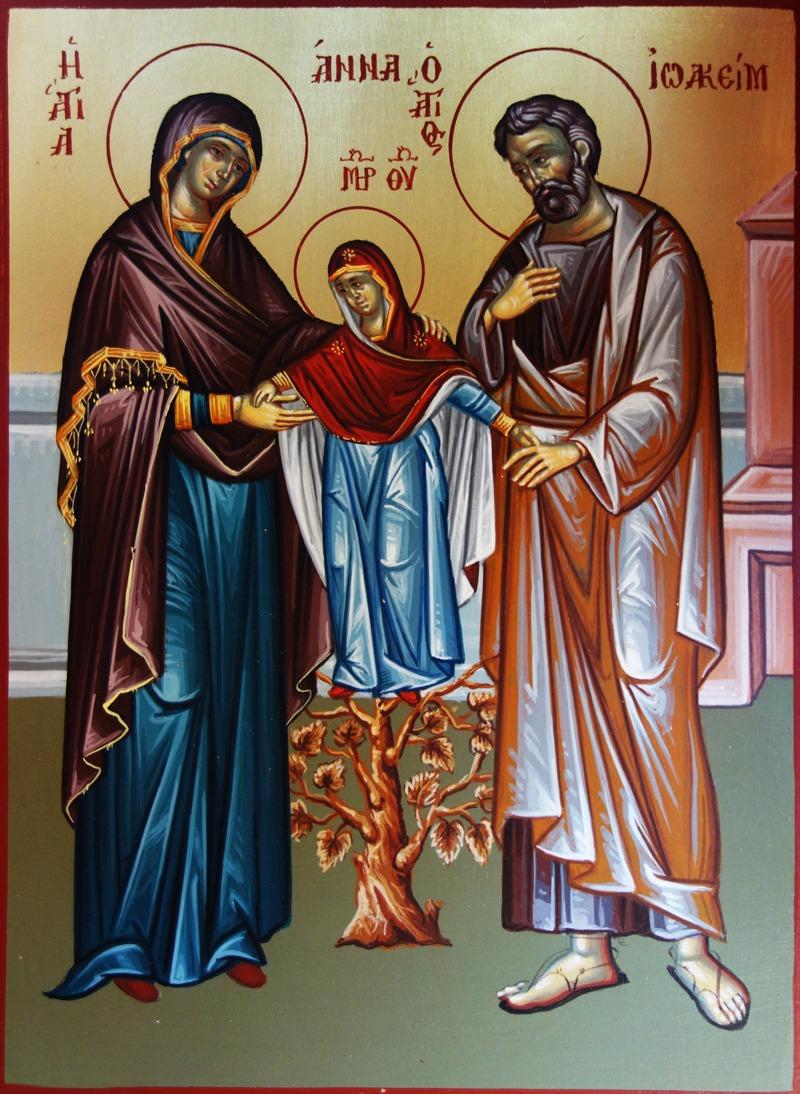 DSC02340 Άγιοι Ιωακείμ και Άννα με την μικρή Παναγία μας