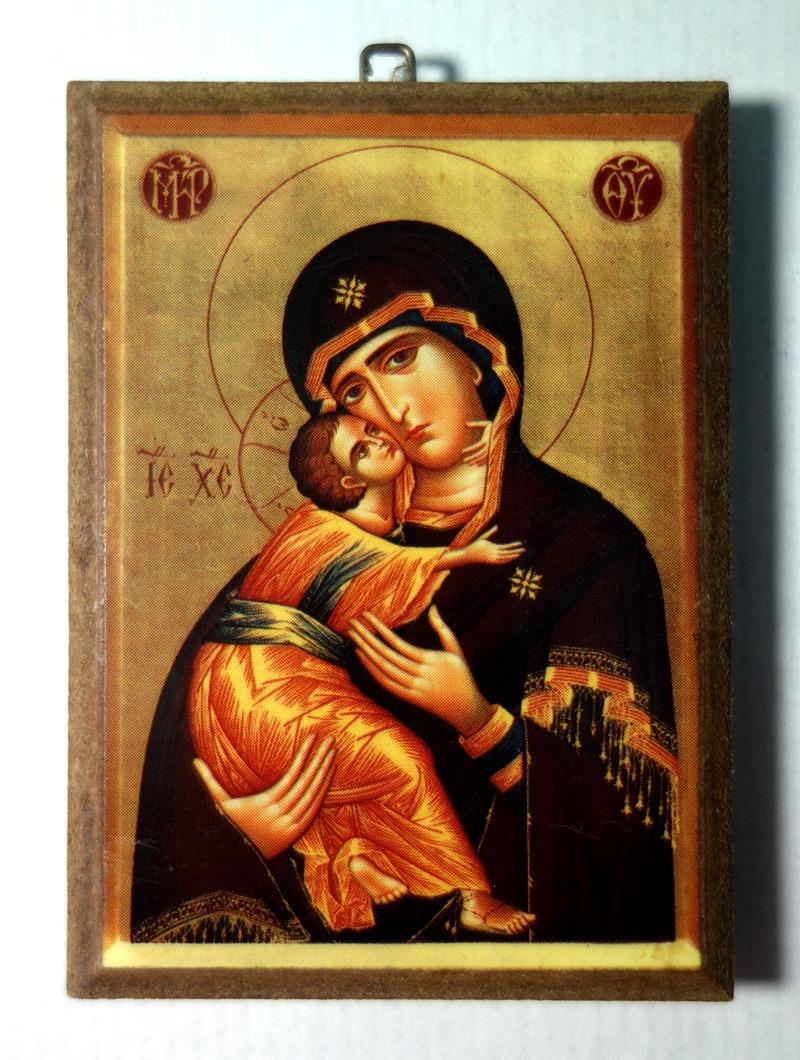 Παναγία Γλυκοφιλούσα, μαύρο ρούχο, λεπτομέρεια